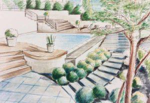 Aménagement paysager - terrasse