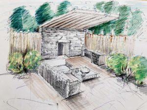 aménagement d'un terrasse