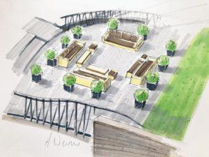 Illustration - aménagement paysager ,une terrasse
