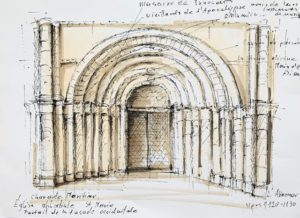 Dessin architecture romaine, Cité de l'architecture